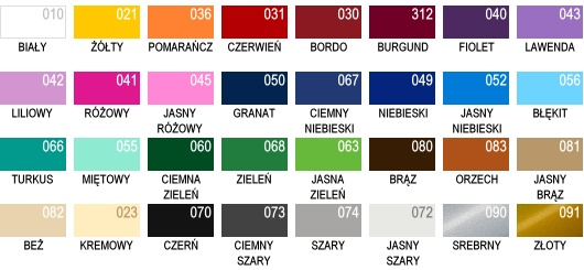 wzornik kolorów